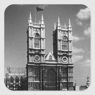 Vintage England London Westminster Abbey 1970 Square Sticker