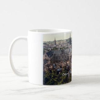 Vintage England mug, Oxford city panorama c1895 Classic White Coffee Mug