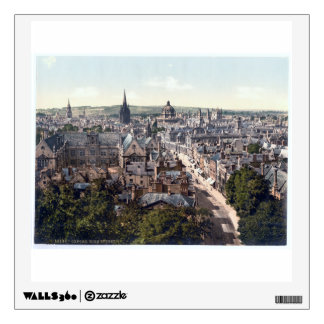 Vintage England - Oxford town panorama 1895 Wall Sticker