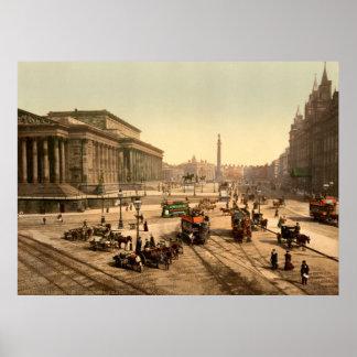 Vintage England Saint Georges Hall Liverpool Poster