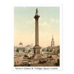 Vintage England, Trafalgar Square London Postcard
