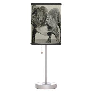 Vintage English Bulldog Photograph Table Lamp