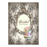 vintage english country bridal shower tea party 5x7 paper invitation card