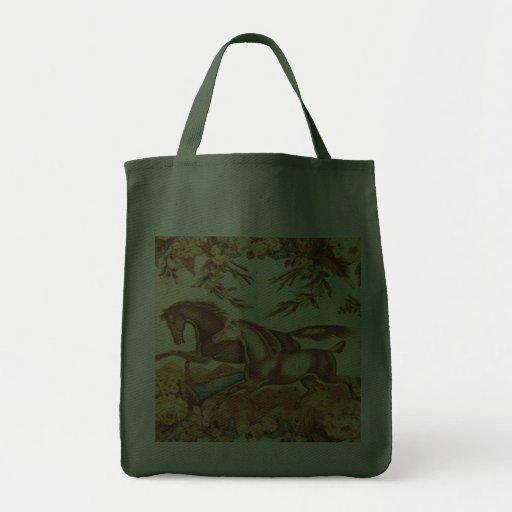 Vintage English Equestrian Horse Bag