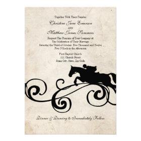 Vintage English Equestrian Wedding Invitations