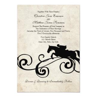 "Vintage English Equestrian Wedding Invitations 5"" X 7"" Invitation Card"