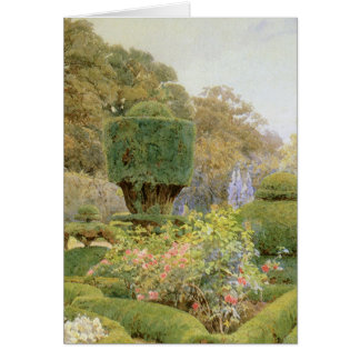 Vintage English Garden, Roses and Pinks by Elgood Card