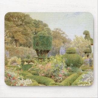 Vintage English Garden, Roses and Pinks by Elgood Mouse Pad