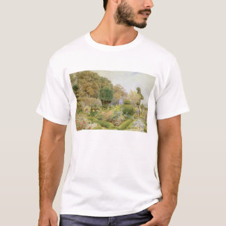 Vintage English Garden, Roses and Pinks by Elgood T-Shirt