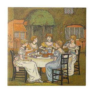 Vintage English High Tea Party Tile Garden Party