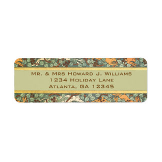 Vintage English Rabbit Hunt Return Address Return Address Labels