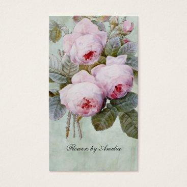 Top_Business_Cards Vintage English Rose Garden Botanical Custom Business Card