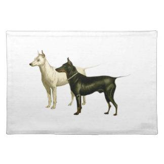 Vintage English Terrier Illustration Place Mat