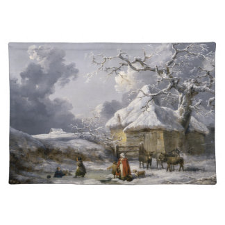 Vintage English Winter Christmas scene Placemat