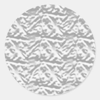 VINTAGE Engraved Silver Pattern - Define OO U R Classic Round Sticker