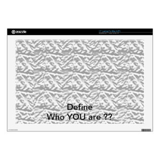 "VINTAGE Engraved Silver Pattern - Define OO U R Skin For 17"" Laptop"