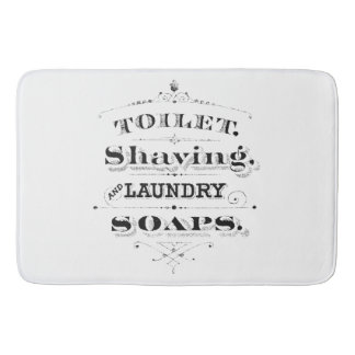 Vintage Engraved Toiletries Ad Typography Bath Mat