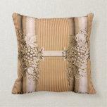 Vintage Engraved Wallpaper Pillow