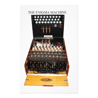 Vintage Enigma machine military secret codes Stationery