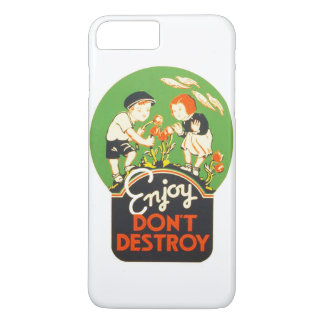 Vintage Enjoy Don't Destroy WPA Poster iPhone 7 Plus Case