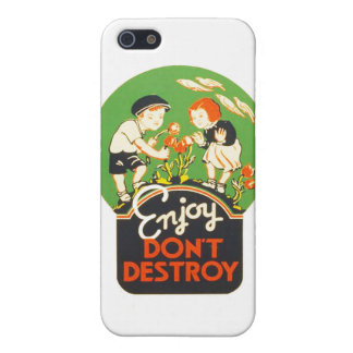 Vintage Enjoy Don't Destroy WPA Poster iPhone SE/5/5s Case