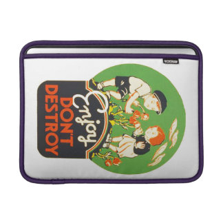 Vintage Enjoy Don't Destroy WPA Poster Sleeve For MacBook Air