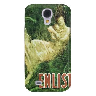 """Vintage """"Enlist"""" Painting, Fred Spear 1915 Galaxy S4 Cover"""