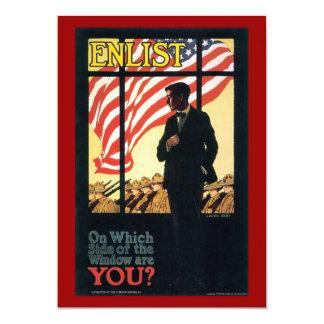"Vintage ""Enlist"" Recruiting poster Custom Announcements"