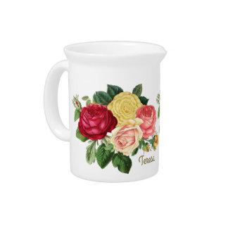 Vintage enorme ID225 floral Jarrones