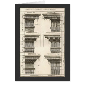 Vintage Entablatures, Orders of Architecture Greeting Card