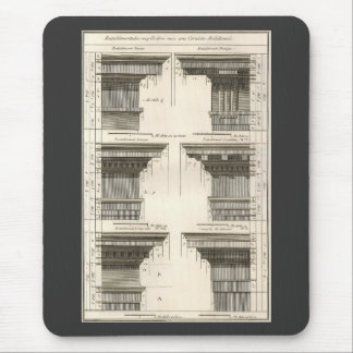Vintage Entablatures, Orders of Architecture Mouse Pad