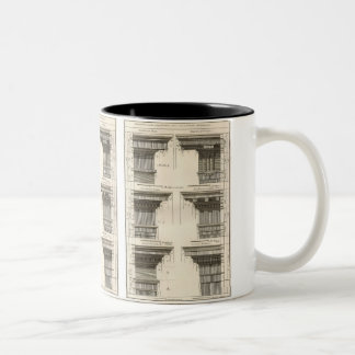 Vintage Entablatures, Orders of Architecture Two-Tone Coffee Mug