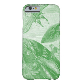 Vintage Entomology Green Katydid Flying Leaf Barely There iPhone 6 Case