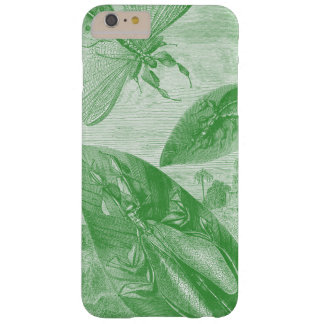 Vintage Entomology Green Katydid Flying Leaf Barely There iPhone 6 Plus Case