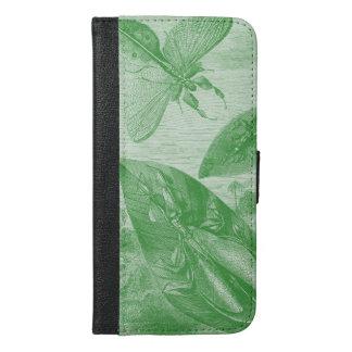 Vintage Entomology Green Katydid Flying Leaf iPhone 6/6s Plus Wallet Case