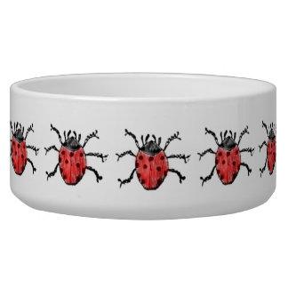 Vintage Entomology Ladybug Illustration Bowl