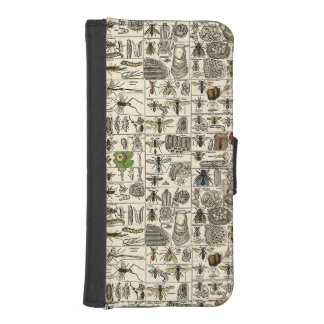 Vintage Entomology Phone Wallet Cases