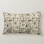 Vintage Entomology Throw Pillows