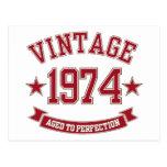 Vintage envejecido a la perfección 1974 postal