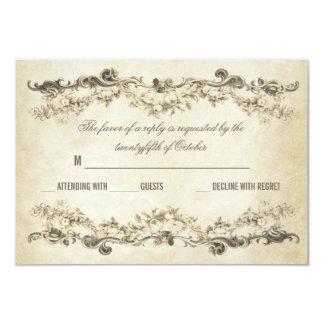 vintage envejecido casando invitaciones invitación 8,9 x 12,7 cm