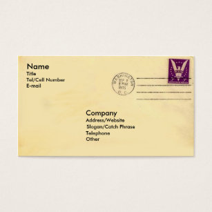 Catch phrases business cards templates zazzle vintage envelope business card colourmoves Images