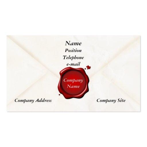 Vintage Envelope Business Card Template