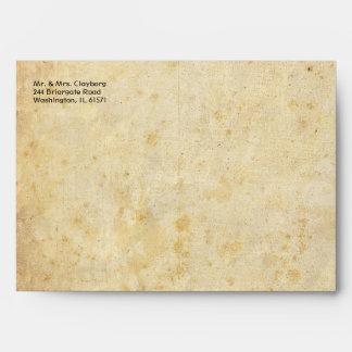 Vintage Envelope With Damask Inside
