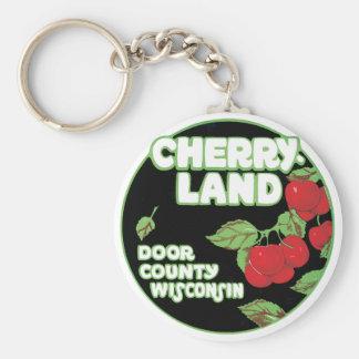 Vintage Ephemera, Cherryland Door County Wisconsin Keychain