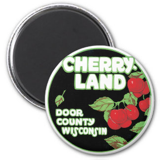 Vintage Ephemera, Cherryland Door County Wisconsin Magnet