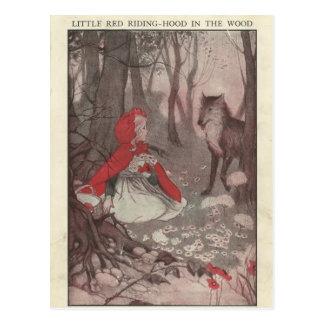 Vintage Ephemera Little Red Riding Hood Postcard