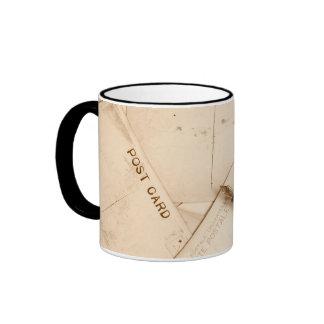 vintage ephemera wraparound coffee mugs