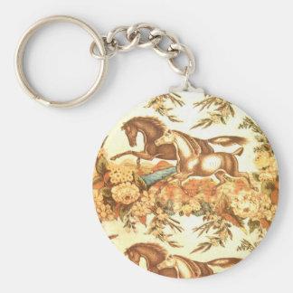 Vintage Equestrian English Horse  Keychain