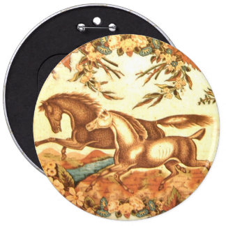 Vintage Equestrian Horse Button