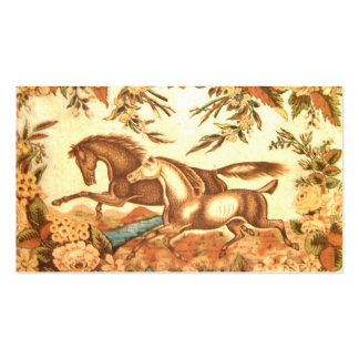 Vintage Equestrian Horse PlaceCard profile card Double-Sided Standard Business Cards (Pack Of 100)